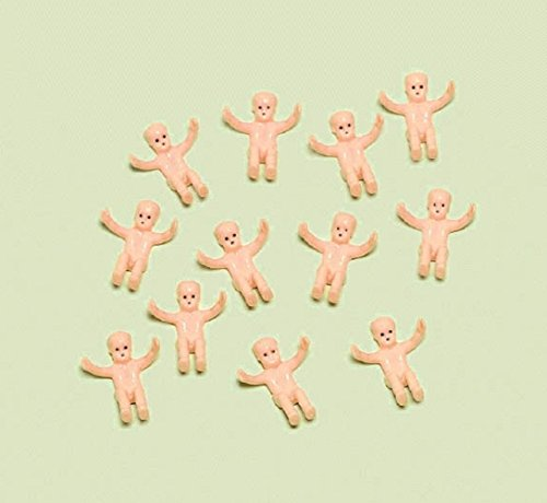 Amscan Miniature Baby Charms Plastic Baby Shower Party Favors, Tan (Amscan Baby Shower compare prices)