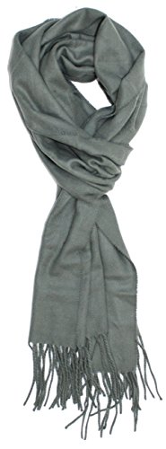 Ted and Jack - A Classic Staple Solid Cashmere Feel Scarf in Medium Gray (Grey Jack compare prices)