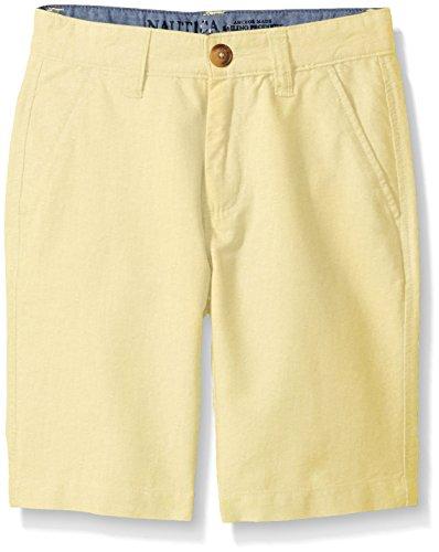Nautica Big Boys' Oxford Flat Front Short, Ducky, 14