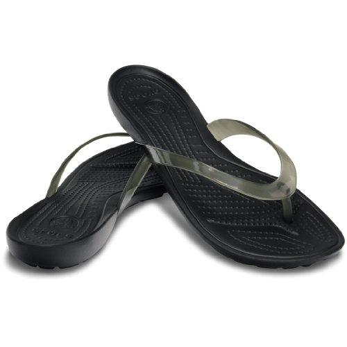 crocs Women's 14174 Really Sexi Flip Flop,Black/Black,9 M US