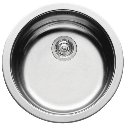 Pyramis Round Bowl Kitchen Sink - Stainless Steel