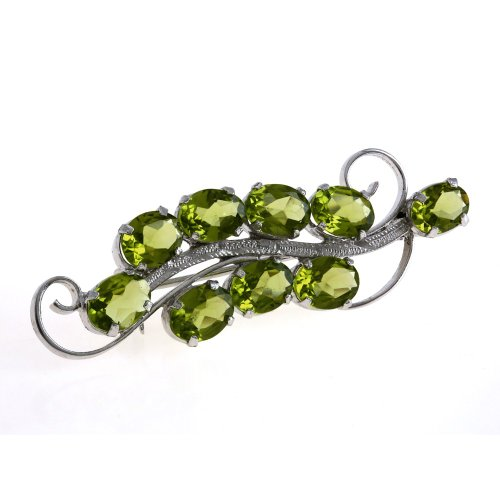 Brooch and Pin Vintage Wedding Women Peridot