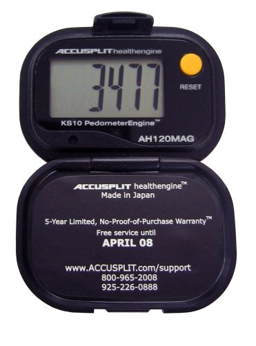WWYC1 ACCUSPLIT Health Engine AH120MAG Pedometer/Step Counter with Magnum Display