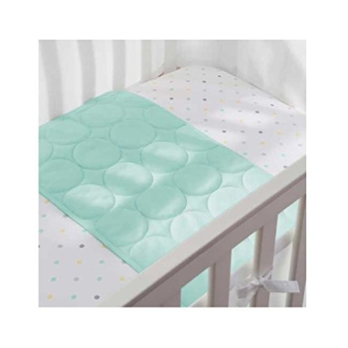 BreathableBaby Wick-Dry Plush Sheet Saver- Aqua Mist - 1