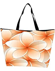 Snoogg All Purpose Bright Frangipani Card In Vector Format Waterproof Bag Made Of High Strength Nylon
