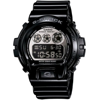 G-SHOCK The Metallic 6900 Watch in Black,Watches for Men,One Size,White