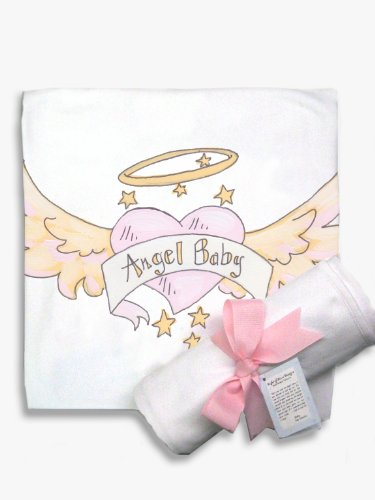 Light of Mine Designs Angel Baby Pink Receiving/Swaddling Blanket