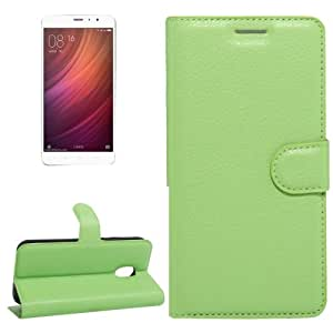 Crazy4Gadget Xiaomi Redmi Note 4 Litchi Texture Horizontal Flip Leather Case with Holder & Card Slots & Wallet(Green)