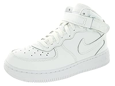 Nike Kids Force 1 Mid (PS) Basketball Shoe