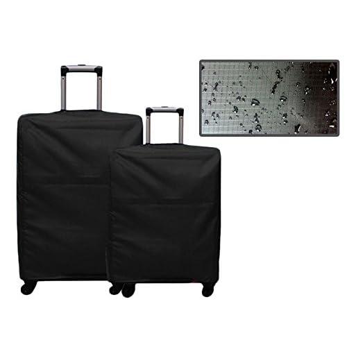 多サイズ スーツケース防水防塵用カバー 旅行携帯用 24インチ ブラック