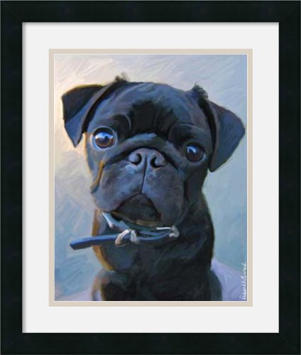 Pug Baby Blue By Robert Mcclintock Framed front-1034865