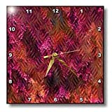 Grungy Pink and Orange Imprinted Metal Look - 15x15 Wall Clock
