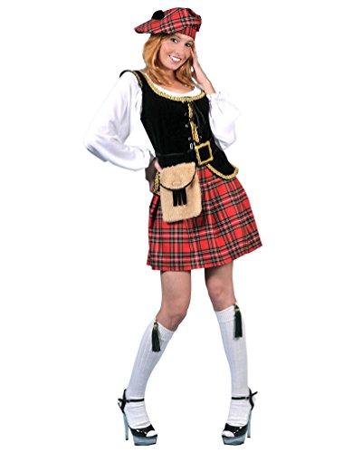 Pierro´s Kostüm Schottin Megan Damenkostüm Frauenkostüm Komplettkostüm Größe 36/38 für Karneval, Fasching, Party