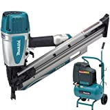 MAKITA AN943 Air Framing Nailer Plus AC1300 Air Compressor - 240V