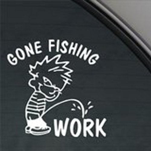 NI197 Funny Gone Fishing Decal Car Truck Window Sticker   7