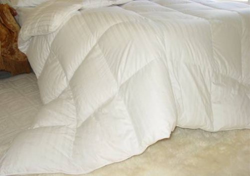 Glacier Luxurious Cal-King White Goose Down Comforter