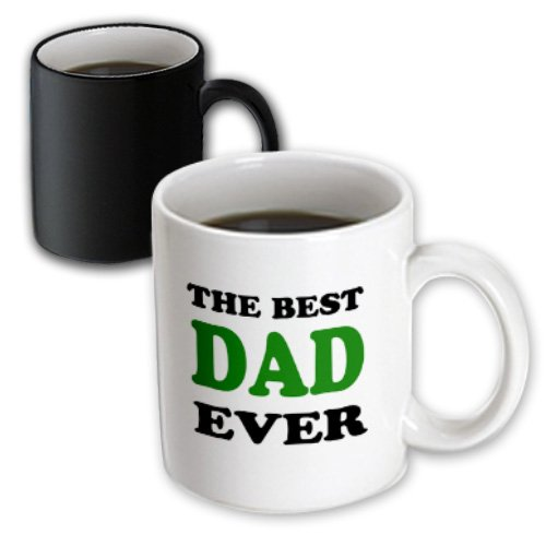 Evadane - Parenthood - The Best Dad Ever, Green - 11Oz Magic Transforming Mug (Mug_123060_3)