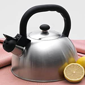 Buy metallic cranberry creative home satin mist metallic stainless steel whistling tea kettle for Decor star 005 ss