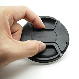 67mm Snap-on Lens Cap Cover for Sigma E-Mount 16mm f/1.4 & Rokinon 12mm F2.0 Lens for Sony Alpha a6500 a6400 a6300 a6000 a5100 a5000 Camera,ULBTER Center Pinch Lens Cap Lens Cover -3Pack (Color: 67mm)