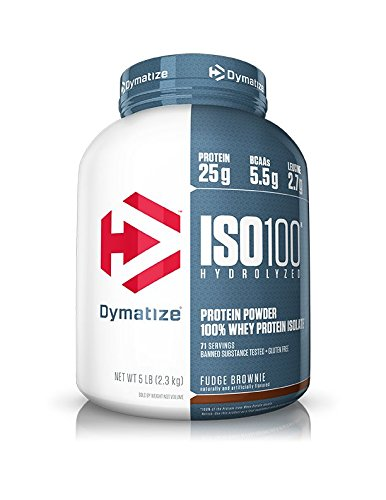 Dymatize Nutrition ISO 100 - 2.585477 kg (Fudge Brownie) at amazon