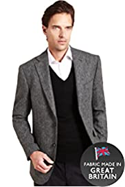 Sartorial Pure Wool 2 Button Herringbone Jacket
