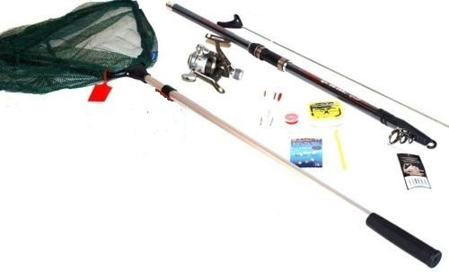 Complete Starter Fishing Kit 4m Rod/Reel/Net/Hooks etc