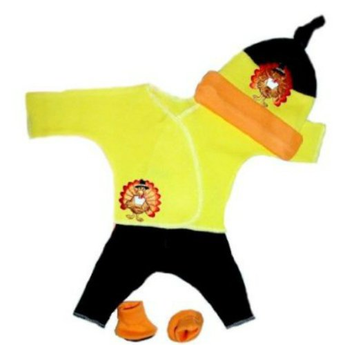 Happy Thanksgiving Turkey Baby Clothing Set (Newborn 0-3 Months To 12 Pounds) front-164337