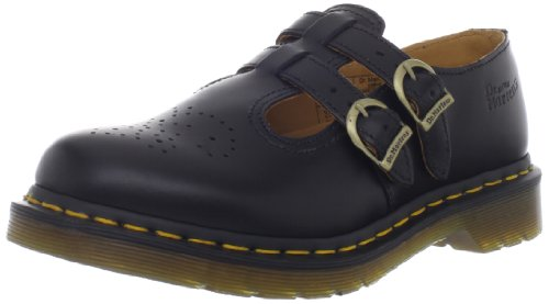 Dr. Martens 8065 Double Strap Mary Jane Black Smooth 7 F(M) Uk/ 9 Us front-768521
