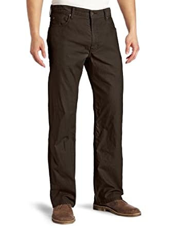 Dockers Men's 5 Pocket Khaki D3 Classic Fit Flat Front Pant, Leather, 30x32
