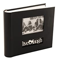 Live-Love-Laugh Black Bookbound Photo Album w/ Memo Holds 200 Photos