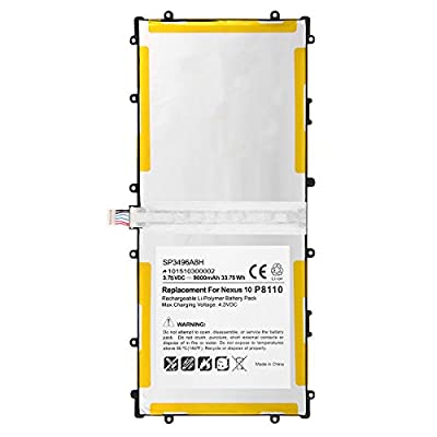 Marval Power HA32ARB SP3496A8H 1S2P Battery for Samsung Google Nexus 10 Tablet GT-P8110 from Marval Power