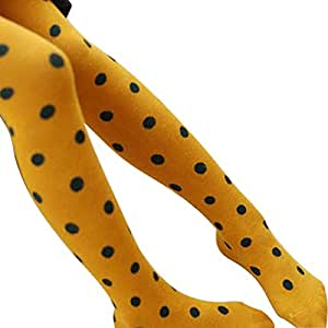 Baby Girls Autumn Cotton Pantyhose Socks-Yellow S: Sports & Outdoors