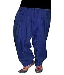 Shiva Collections royal blue cotton patiala salwar