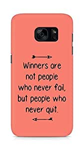 AMEZ but people who never quit Back Cover For Samsung Galaxy S7