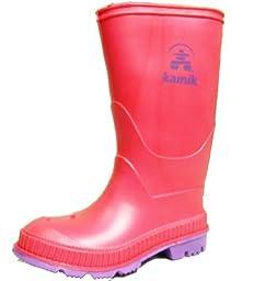 Kamik Stomp Rain Boot (Toddler/Little Kid/Big Kid),10 M US Toddler,Rose.Rose