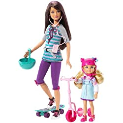 Barbie Sisters Skateboard! Skipper and Chelsea