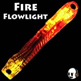 LED Poi Flow Toys - Orange Red Yellow Glow Stick - Light Show For Rave Party - Fire Flow Light / Flowlights