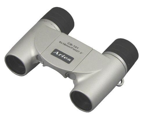 18 Mm Caliber Aries Compact Pouch Silver Cb-101Sv 6 Times Mizar-Tec Roof Prism Binoculars Formula