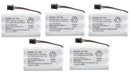 5 Pack - BP-446 BT-446 BT-1005 Cordless Phone Battery 800MAH For Uniden (Lifetime Warranty, Bulk Packaging)