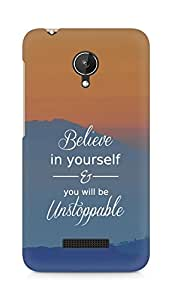 AMEZ believe in yourself and you will be unstoppable Back Cover For Micromax Canvas Spark Q380