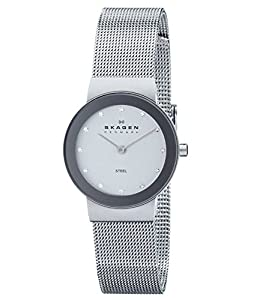 Skagen Women's 358SSSD Freja Quartz 2 Hand Stainless Steel Silver Watch