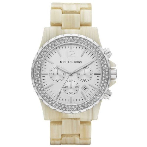 Michael Kors Ladies Cream Chronograph Watch