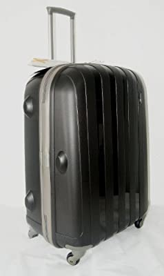 "Luggage X - 66cm (26"") Hard Sided Black Polypropylene Lightweight Trolley Suitcase - NEXT DAY DELIVERY*"