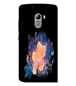 PrintDhaba Flower D-2153 Back Case Cover for LENOVO K4 NOTE A7010 (Multi-Coloured)