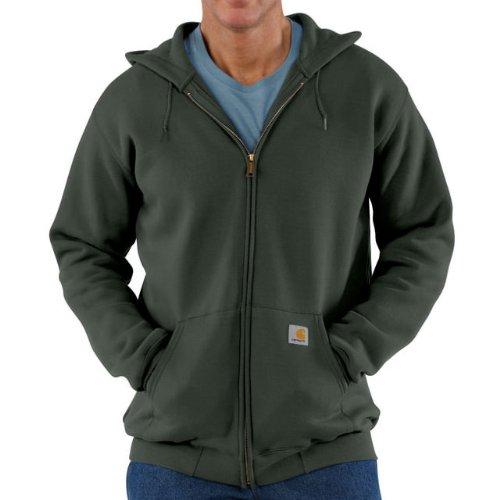 Carhartt Midweight Hooded Zip Front Sweatshirt Olive M,L,XL,XXL Mens