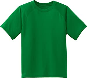 Sport-Tek - Youth Dry Zone Raglan Accent T-Shirt. Y473 - X-Large - Kelly Green