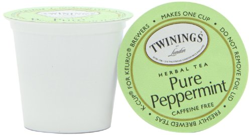 Twinings Pure Peppermint Tea, K-Cup For Keurig Brewers, 18-Count