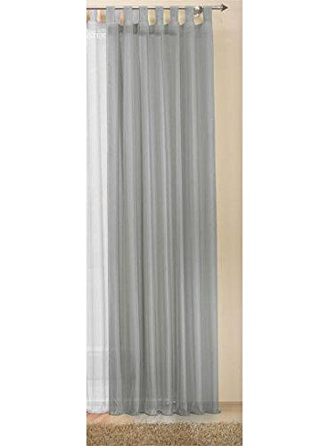 Transparente-einfarbige-Gardine-aus-Voile-viele-attraktive-Farben-245x140-Grau-61000