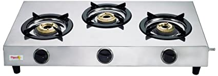 Stainless Steel 123 Gas Cooktop (3 Burner)