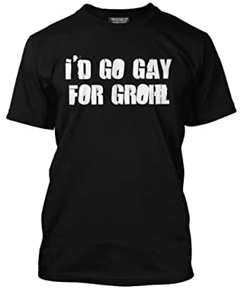 Gay For Grohl Mens Black T-Shirt (Small)